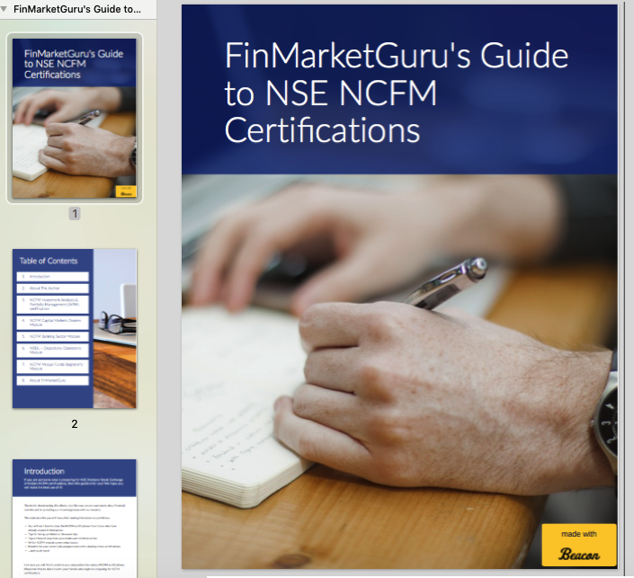 FinMarketGuru's Guide to NSE NCFM Certifications