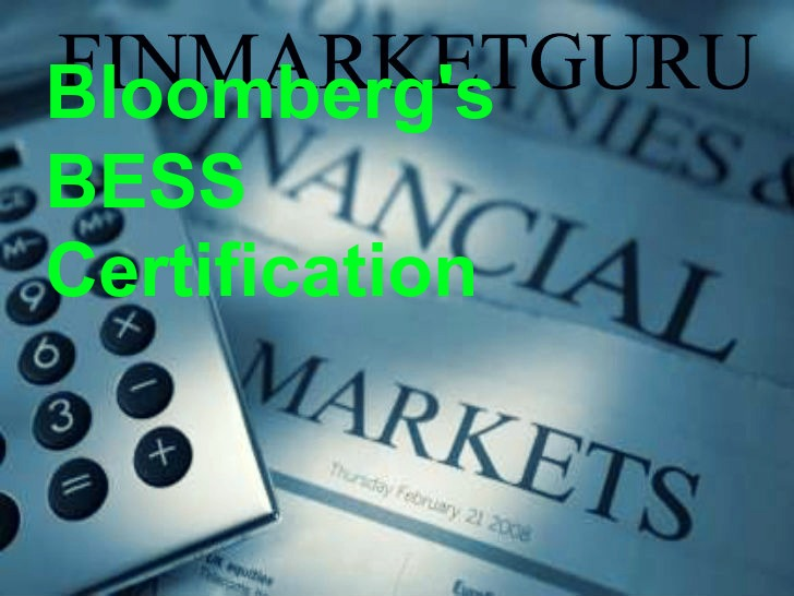 All about Bloomberg\'s BESS certification